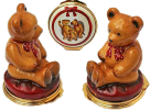 "Teddy (01/3938)  3"" tall. Made of all enamel.  Picture depicts two sides and the bottom."