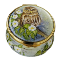 "Little Owl (PS-LO)  1.75"" diameter. Freehand painted by Sandra Selby. Limited Edition of 50."