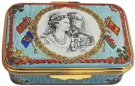 "QE II Golden Wedding (23/5197) 2.5"" x 1.5"". Inside Lid: ""A tribute to The Queen and Prince Philip on the 50th Anniversary of their wedding at Westminster Abbey on 20th November 1947"" LE 1000 w/certificate."