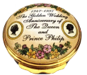 "QE II Golden Wedding Anniversary (25/5436)  1.5"" diameter. (1997)"