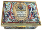 "QE II Golden Jubilee UK Flags (11/6701) 2.78"" x 2"" x 1""   Inside Lid is Script and Coat of Arms inside base. Limited Edition of 500 with Certificate of Authenticity"