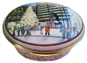"Christmas in Chicago Daley Plaza (McLaughlin)  2.5"" oval. Limited Edition of 250."