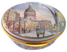 "Christmas in St. Louis (McLaughlin)  2.5"" oval. Limited Edition of 250."